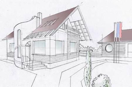 первоначальный чертеж дома