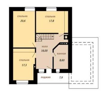 чертеж второго этажа дома