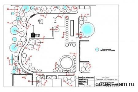 чертеж садового участка
