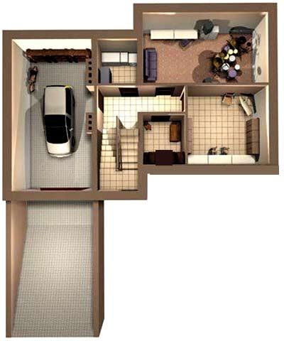 план цоколя дома