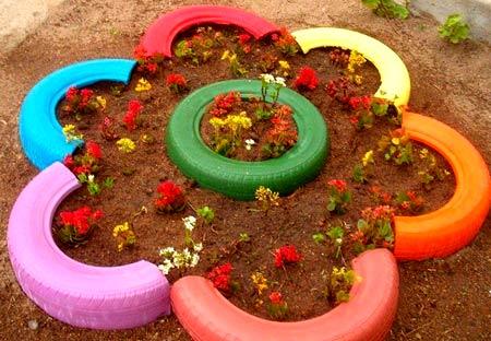 песочница цветок