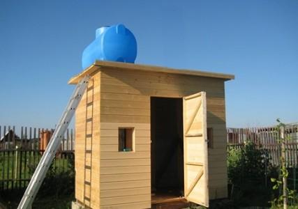 деревянный дачный душ фото