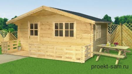дачный летний домик из бруса 4x4