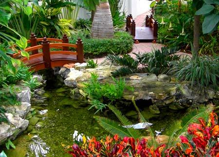 восточный стиль декорирования сада