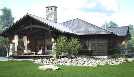 декор комбинированный дом