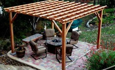 шатер с односкатной крышей
