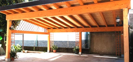 деревянный навес к дому