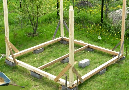 деревянная беседка строительство