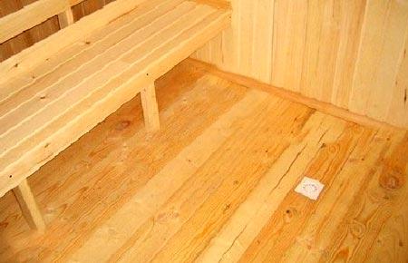 деревянный пол предбанник