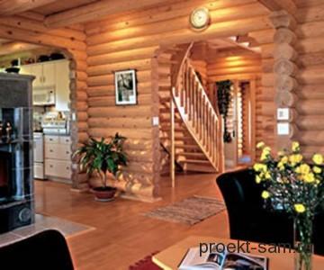 деревянный дом внутри