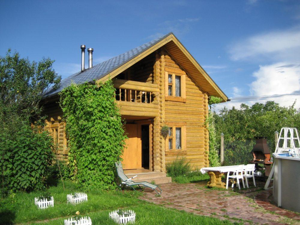 деревянная дача из бревна