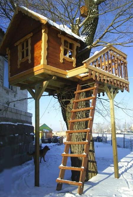 дерево детский домик