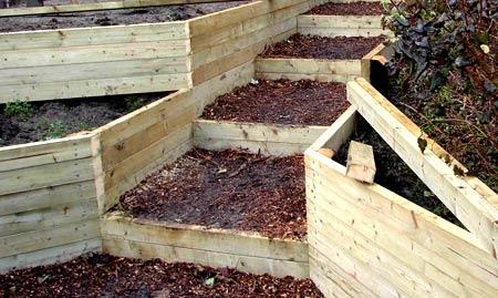 деревянные подпорные стенки
