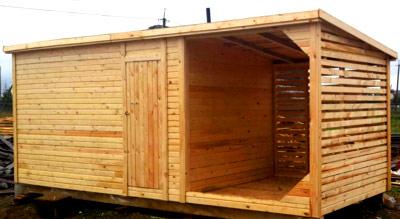 деревянный хозблок