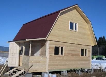 дешевый деревянный проект дома