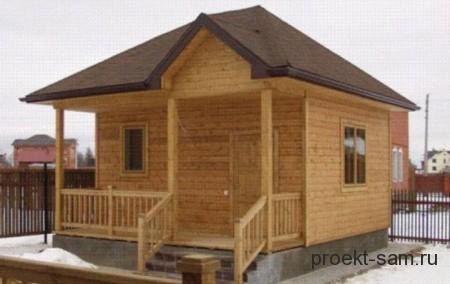 простой дешевый проект дома