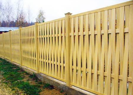 дешевый деревяный забор