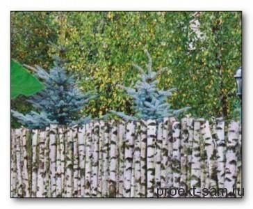 Забор своими руками из сетки рабицы фото
