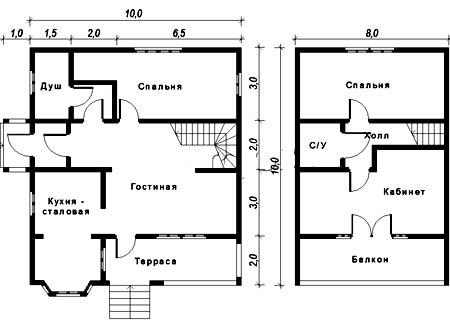 план дома 10х10