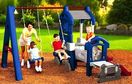 детская площадка на даче из пластика