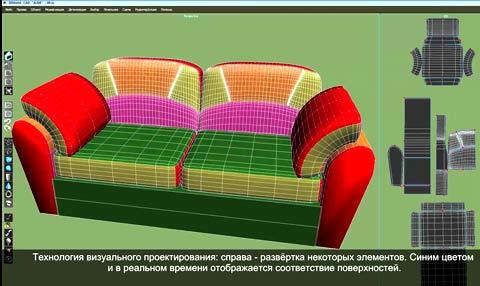 проектирование мягкого дивана