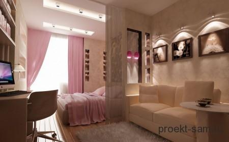 дизайн гостиной 1 комнатной квартиры