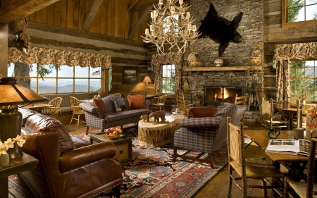 дизайн интерьера охотничьего домика