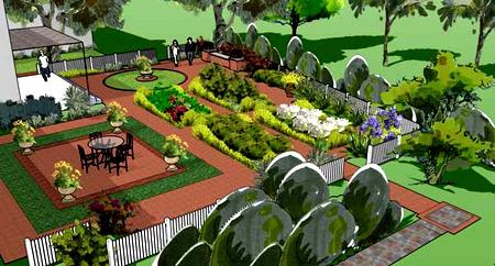 ландшафтный дизайн Google SketchUp