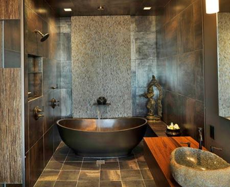натуральный дизайн ванной комнаты