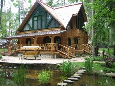 гостевой дом-баня из бревна