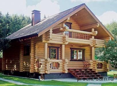 большой загородный дом из дерева