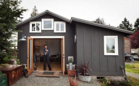 небольшой дом-гараж