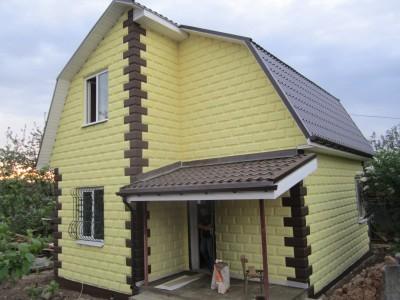 дом из полистиролбетонных блоков