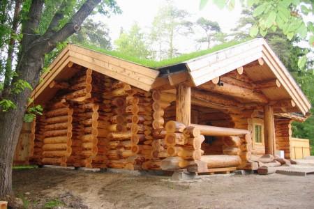 дом из сруба ручной рубки