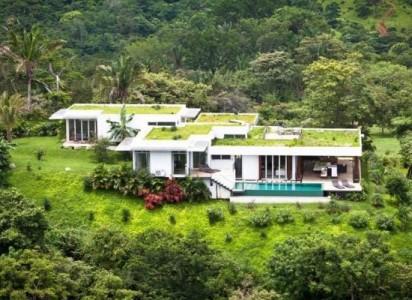 дом с газоном на крыше