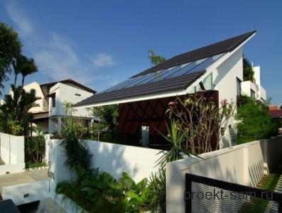 проект нового дома с односкатной крышей