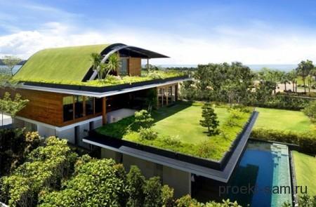 дом-сад с террасой на крыше