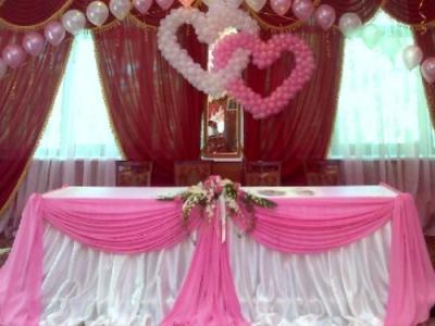 украшения шариками на свадьбу