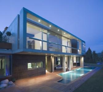 частный дом в стиле хай тек