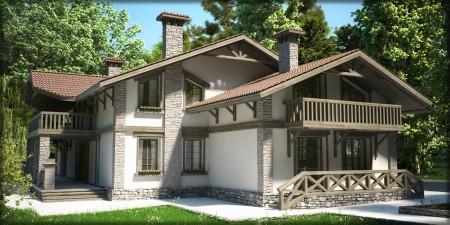 фото дома в стиле шале