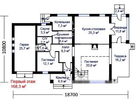 план дома баня гараж