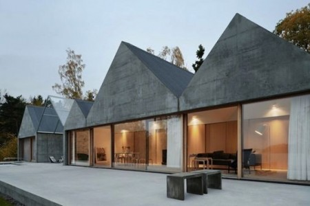 частные дома из стекла и бетона