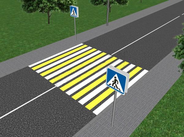 Цвет пешеходного перехода