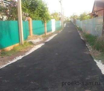 дорога около частных домов