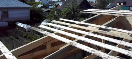 крыша из древесины