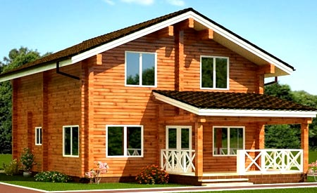 деревянный двухэтажный дом