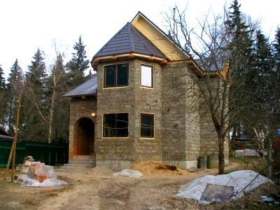 двухэтажный дом из опилкобетона