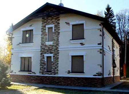 газосиликатный двухэтажный дом