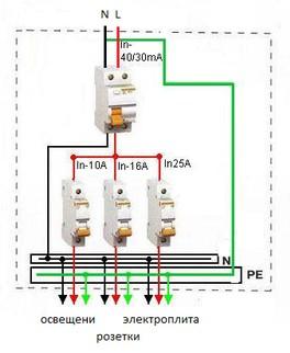 двухпроводная схема электропроводки