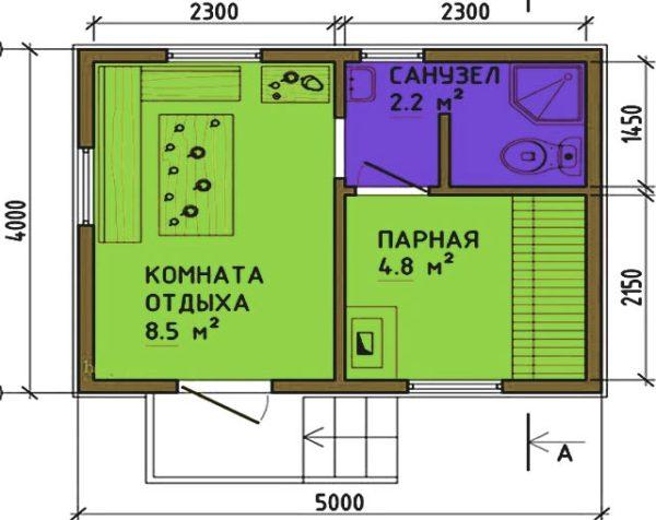 одноэтажная баня